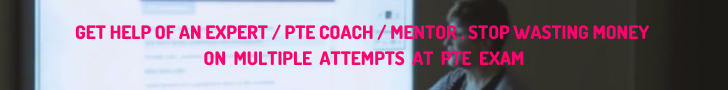 GET help from our expert PTE coach or mentor